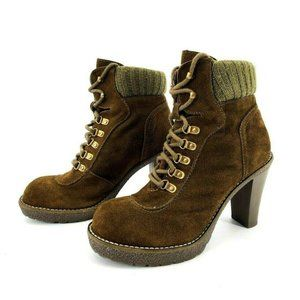 Envy Hello Women's Heeled Suede Ankle Boots 8.5